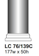 Llc76 139c cast column foot