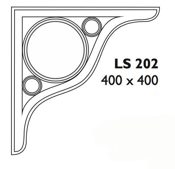Roof or canopy support bracket - LS 202