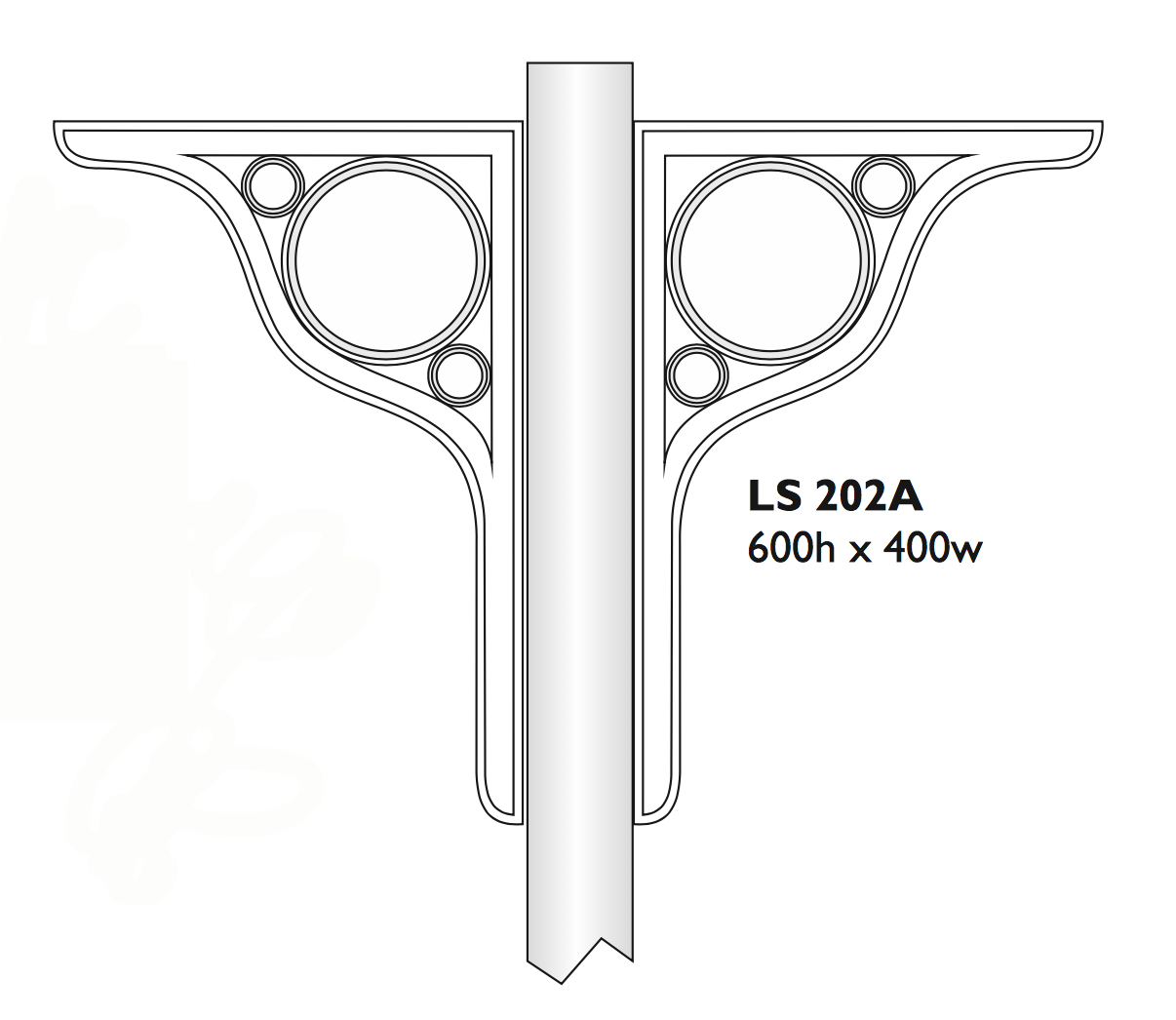 Roof or canopy support bracket - LS 202A